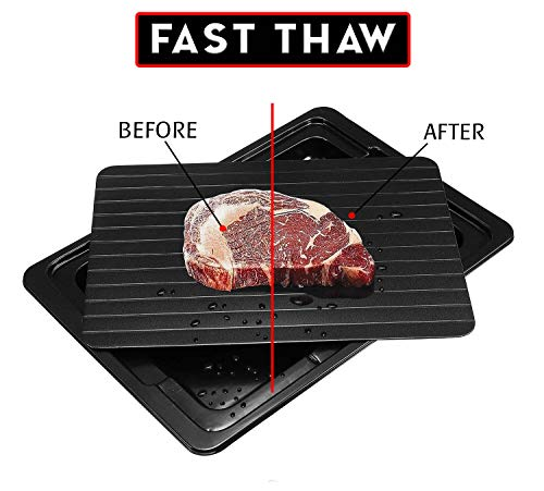 Defrosting Tray For Frozen Foods - Eco Friendly Rapid Defrost Thawing Meat Tray - Meat Thaw Magic Defroster Plate