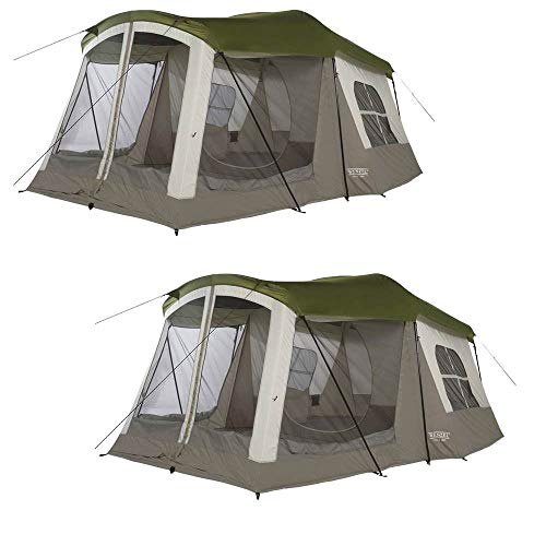 Wenzel Klondike 16 x 11' 8 Person 3 Season Screen Room Camping Tent (2 Pack)