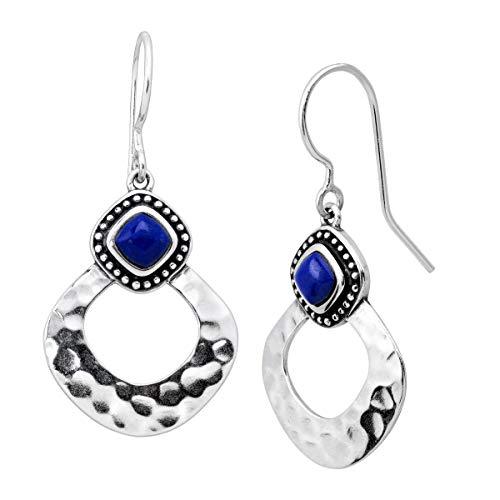 Silpada 'Atacama' Natural Lapis Drop Earrings in Sterling Silver