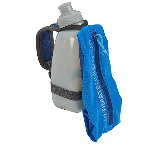 Ultimate Direction 300ml Fastdraw, Handheld Running Water Bottle Carrier with Mesh Storage for Essentials (Bottle Included)