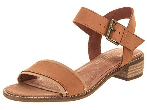 TOMS Camilia Tan Leather 8.5 B (M)