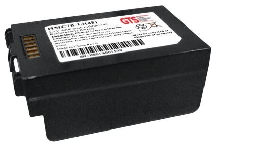 Honeywell Batteries HMC70-LI(48) GTS Batteries, MC70/MC75 High Cap, Battery Replacement, 4800 mAh, Li-ion, 3.7V