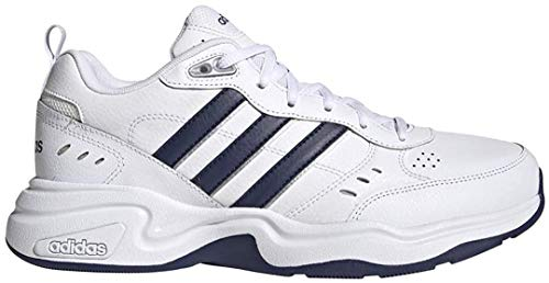 adidas Men's Strutter Wide Fit Classic Lifestyle Sneakers Shoes,Dark Blue/Matte Silver/active Gold, 10.5 Wide