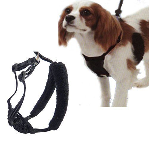 Yuppie Puppy, Anti-Pull Mesh Harness, Size Small (8'-14'), Black, For Heavy to Moderate Pullers