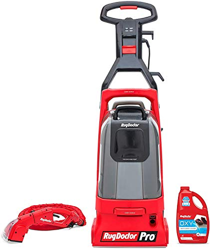 Rug Doctor Pro Deep Commercial Cleaning Machine with Motorized Upholstery Tool, Large Red Carpet Cleaner