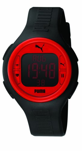 PUMA Men's PU910541002 Pulse Black and Red Heart Rate Monitor Watch