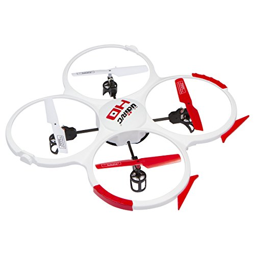 UDI RC 818A HD Drone Quadcopter with 720p HD Camera Headless Mode, Return to Home Function and Batteries - White