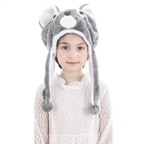 Calvertt Kids Animal Hat - Plush Kids Hats for Boys and Girls - Soft Hat with Ear Flap- Kid Animal Costume Hat - Comfortable and Cute Winter Hats (Koala)