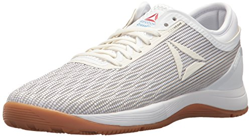 Reebok Women's Crossfit Nano 8.0 Flexweave Workout Joggers, White/Classic White/Excellent Red/Blue/Gum, 6 M US