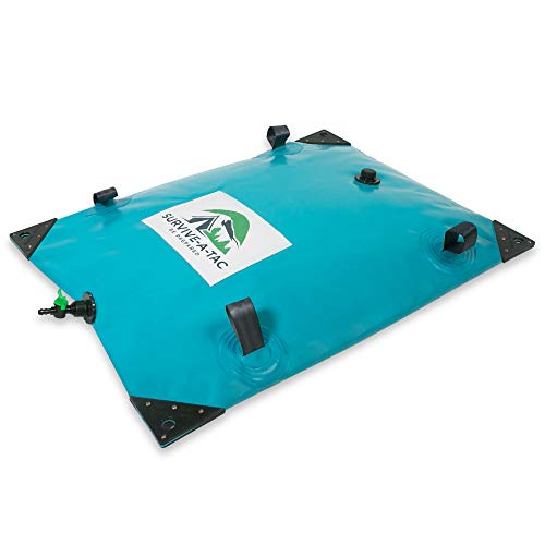 26 Gallon Portable Water Bladder - Extra Strong & Reusable Tub Bag - Collapsible Water Container - Ideal for Camping, Emergency Preparation and Survival Enthusiasts. Reinforced Handles & Corners.