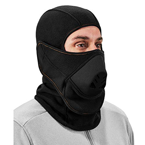 Balaclava with Detachable Heat Exchanger Face Mask, Winter Ski Mask, Ergodyne N-Ferno 6970,Black