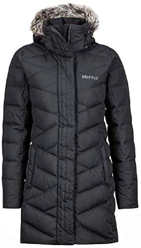 Marmot Women Varma Long Quilted Hooded Down Jacket Black Medium