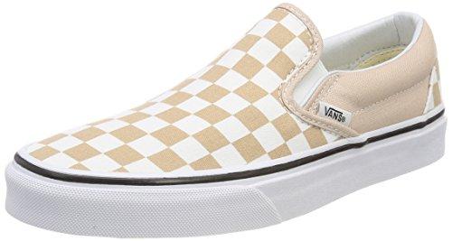 Vans Unisex Classic Slip-On (Checkerboard) Frappe/True White Skate Shoe 8 Men US/9.5 Women US