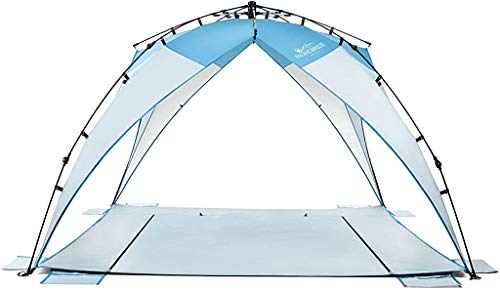 Pacific Breeze Sand & Surf Beach Shelter (Pacific Breeze Sand & Surf Beach Shelter with Moveable Sides)