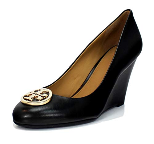 Tory Burch Benton 2 85MM Wedge Shoes, Perfect Black (6)