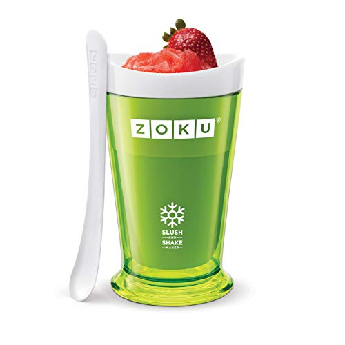 Zoku Slush and Shake Maker, Compact Make and Serve Cup with Freezer Core Creates Single-serving Smoothies, Slushies and Milkshakes in Minutes, BPA-free, Green