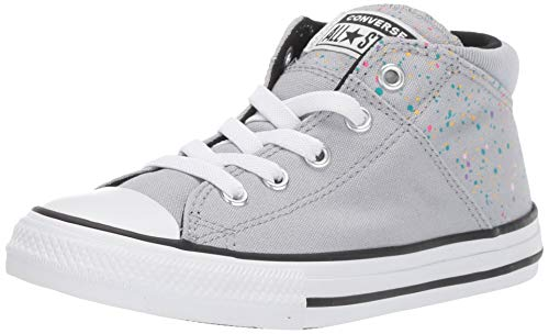 Converse Girls' Chuck Taylor All Star Madison Galaxy Dust Sneaker, Wolf Grey/Black/White, 3 M US Little Kid