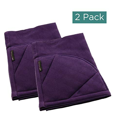 Rachael Ray Moppine Towel, 2pk - 2-in-1 Kitchen Towel and Pot Holder with 2 Heat Resistant Pockets to Grip Hot Cookware, Bakeware-Absorbent Kitchen Towels Perfect for Drying Dishes and Hands, Lavender