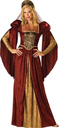 InCharacter Costumes Women's Renaissance Maiden Costume, Burgundy/Gold, Small