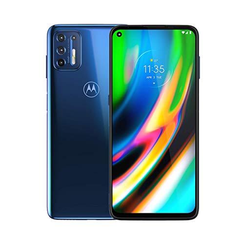 Motorola Moto G9 Plus | Unlocked | International GSM only | 4/128GB | 64MP Camera | 2019 | Blue Indigo, 169.98 x 78.1 x 9.69mm