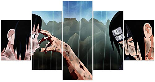 Jackethings Naruto Poster Touching Farewell Between Sasuke and Itachi Anime Poster Unframed for Bedroom