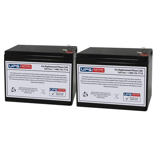 Set of 2 - Neuton Mowers CE5 Battery - Replacement UB12100-S Universal Sealed Lead Acid Battery (12V, 10Ah, 10000mAh, F2 Terminal, AGM, SLA)