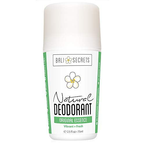 Bali Secrets Natural Deodorant - Organic & Vegan - For Women & Men - All Day Fresh - Strong & Reliable Protection - 2.5 fl.oz/75ml [Scent: Original Essence]