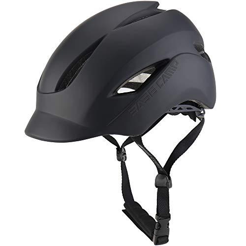 BASE CAMP Adult Bike Helmet with Rear Light for Urban Commuter Adjustable M Size