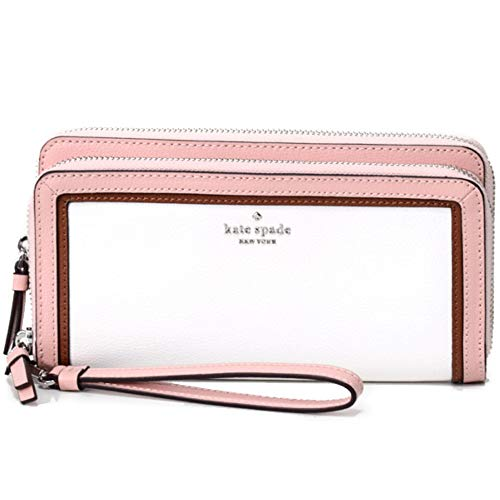 Kate Spade New York Patterson Drive Anita Wallet Large Wristlet (Compatible with All iPhones), White