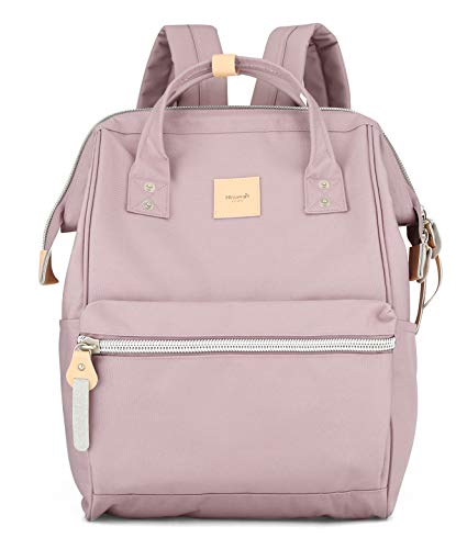 Himawari Travel School Backpack with USB Charging Port 15.6 Inch Doctor Work Bag for Women&Men College Students(1881-Pink)