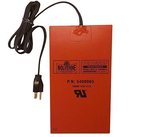 Zerostart 3400065 Silicone Pad Heater Engine Oil, Transmission Fluid, Reservoir and Hydraulic Fluid Heater, 6' x 10¾' | 120 Volts | 1000 Watts