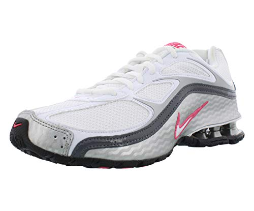 Nike Women's Reax Run 5 Running Shoes White/Metallic Silver/Dark Grey 7.5