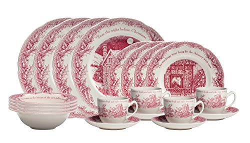 Johnson Brothers Twas the Night Dinner Pink/Ivory 20 Piece Set