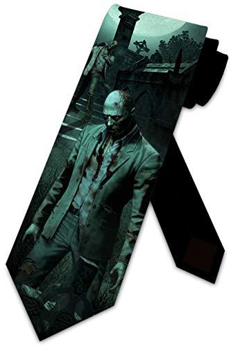 Zombie Ties Mens Halloween Tie Novelty Necktie by Three Rooker