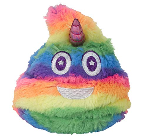 Unicorn Poop Emoji Farting Plush Toy - Makes 7 Funny Fart Sounds – Simply Squeeze Unipoop to Activate & Hear it Fart - Fun Dog Toy - Perfect Rainbow Toy for a Unicorn Party - Measures a Cute 4 x 4.5'
