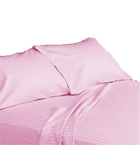 Devi Bedding Queen Size Sheet Set - 6 Piece Set - Hotel Luxury Bed Sheets - Soft - 21 '' to 25'' Deep Pockets - Easy Fit -Cotton Sheets-Bed Sheets -Queen- Sheets-Stripe Pattern-