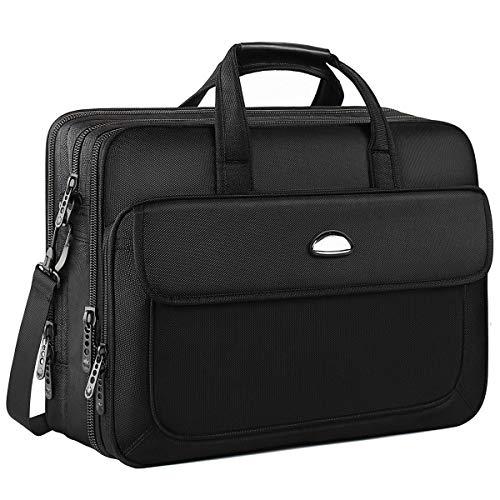 cobush-17 Inch Laptop Bag, Shoulder Messenger Bag Business Briefcase for Computer