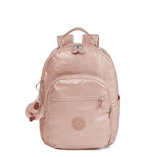 Kipling Seoul Go Small Metallic 11' Laptop Backpack Rose Gold Metallic
