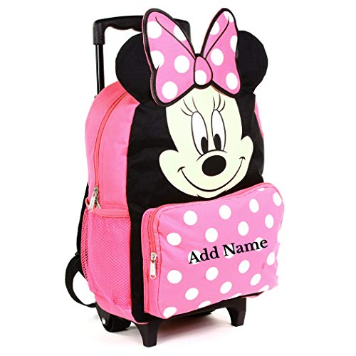 Personalized Minnie Mouse 14 Inch Rolling Backpack with 3D Ears