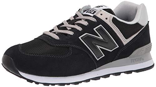 New Balance mens 574 V2 Evergreen Sneaker, Black/White/Grey, 10.5 US