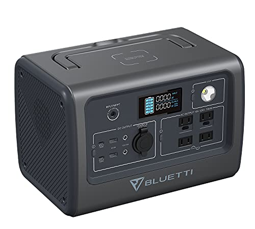 BLUETTI Portable Power Station EB70 700W (Peak 1400W) Solar Generator 716Wh Backup LiFePo4 Battery Pack with 4 110V AC Outlets, Widely Use for Camping Outdoor RV Power Outage Home Off-grid