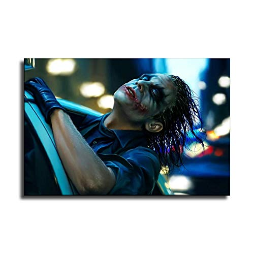 Joker Heath Ledger Canvas Art Poster and Wall Art Picture Print Modern Family Bedroom Decor Posters