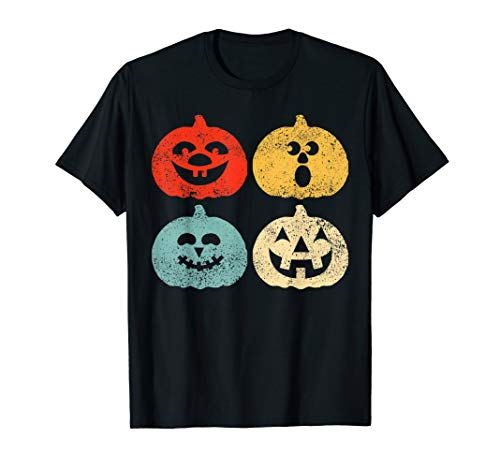 Vintage Halloween Pumpkin Women, Men, Kids, Funny Retro Gift T-Shirt