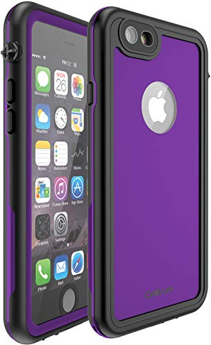 CellEver Compatible with iPhone 6 / 6s Waterproof Case Shockproof IP68 Certified SandProof Snowproof Full Body Protective Cover Designed for iPhone 6 / iPhone 6s (4.7 Inch) - KZ C-Purple