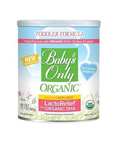 Baby's Only Organic LactoRelief with DHA & ARA Toddler Formula, 12.7 Oz (Pack of 1)   Non GMO   USDA Organic   Clean Label Project Verified   Lactose Sensitivity