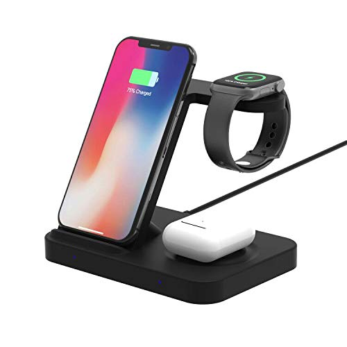 Winktech 5 in 1 Wireless Charger for Airpods, Fast Charging Dock Station for Apple Watch Series 6/5/4/3/2/1, iWatch, Wireless Charge Stand for iPhone 12/11/pro/MAX/XR/XS/X/8Plus/8, Samsung
