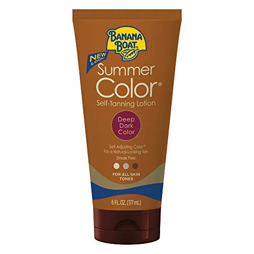 Banana Boat Self Tanning Sunless Lotion for a Natural Looking Tan, Deep Dark, 6 Ounce, Pack of 3 (Packaging may vary)