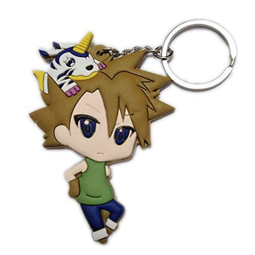 DOFE Digimon Keychain,PVC keychain,Cartoon Keychain,For Boys.3.5'. (Ishida Yamato)