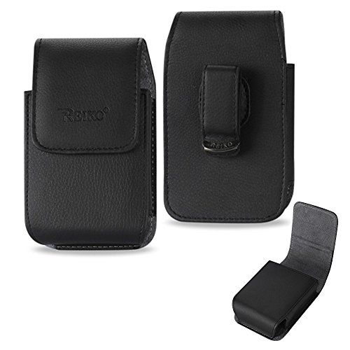 Vertical Executive Leather Case with Magnetic Closure with Swivel Belt Clip for HTC One M8 with an UAG Urban Armor Gear Case on it.
