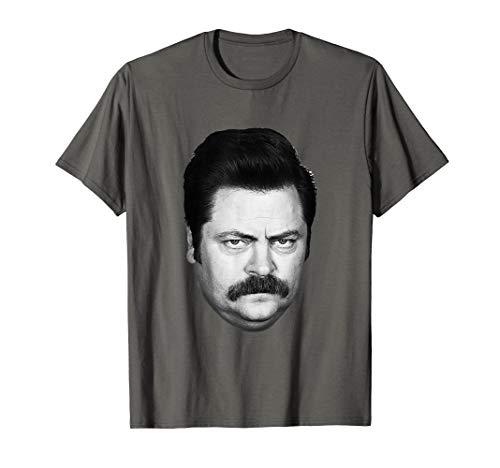 Parks & Recreation Ron Swanson Head T-Shirt